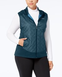 Columbia Plus Size Warmer Days Quilted Hooded Vest Night Shade