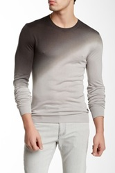 Versace Crew Neck Silk Ombre Sweater