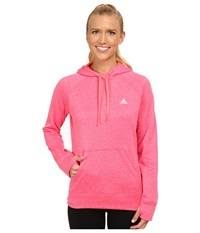 Adidas Ultimate Fleece Pullover Hoodie Super Pink Flash Red Women's Workout