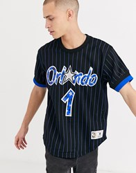 Mitchell And Ness Name Number Orlando Magic Penny Hardaway Mesh Crew Neck In Black