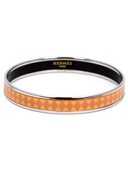 Hermes Vintage Diamond Band Bracelet Yellow And Orange