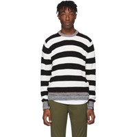 Rag And Bone Black White Striped Axwell Sweater