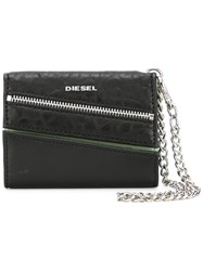 Diesel Chain Detail Purse Women Calf Leather One Size Black