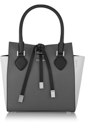 Michael Kors Collection Miranda Extra Small Color Block Leather Tote Gray