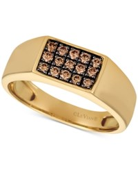 Le Vian Gents Mens Diamond Ring 3 8 Ct. T.W. In 14K Gold Yellow Gold