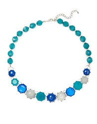 Catherine Stein Beaded Collar Necklace Teal