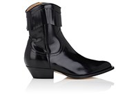 Philosophy Di Lorenzo Serafini Women's Fringed Leather Western Ankle Boots Black