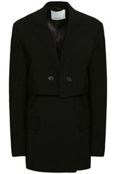 3.1 Phillip Lim Woman Double Breasted Crepe Blazer Black