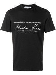 Martine Rose Printed Logo T Shirt Black