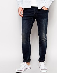 Selected Slim Jean With Blasting Indigo