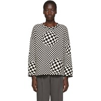 Off White Black And Checked Sweater