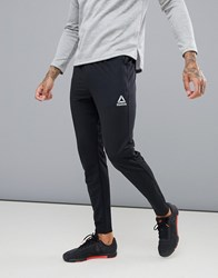 Reebok Training Work Out Ready Trackster Tapered Joggers In Black Cw5031