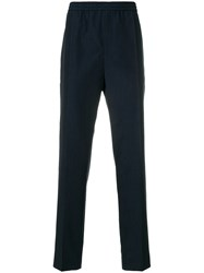 Golden Goose Deluxe Brand Casual Straight Leg Trousers Blue