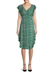Plenty By Tracy Reese Ruffled Checkered Dress Palm