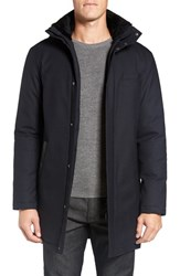 Mackage Men's Damari Wool Blend Coat With Genuine Shearling Collar
