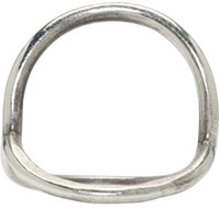 Ann Demeulemeester Silver Circle Ring