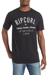 Rip Curl Men's Blender Classic Graphic T Shirt Black