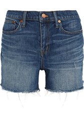 Madewell Distressed Denim Shorts Mid Denim