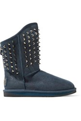 Australia Luxe Collective Pistol Studded Shearling Boots Storm Blue