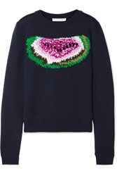 J.W.Anderson Jw Anderson Watermelon Intarsia Wool Sweater Black