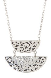 Lois Hill Sterling Silver Cutout Pendant Necklace No Color