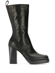 Rick Owens Tall Ankle Boots Black