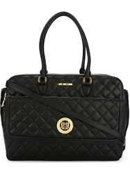 Love Moschino Quilted Strap Bag Black