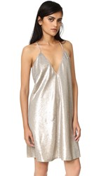 The Jetset Diaries Gold Diamond Mini Dress Gold Sequin