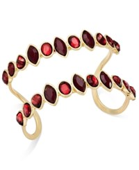 Inc International Concepts Gold Tone Parallel Crystal Cuff Bracelet Only At Macy's Merlot