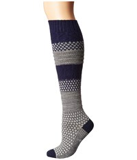 Smartwool Popcorn Cable Knee Highs Light Gray Heather Women's Knee High Socks Shoes