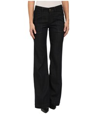 Level 99 Eve Mid Rise Wide Leg In Rousseau Rousseau Women's Jeans Black