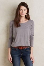 Bordeaux Aiva Draped Top Light Grey