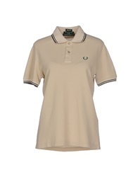 Fred Perry Polo Shirts Beige