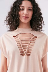Truly Madly Deeply Macrame Tee White
