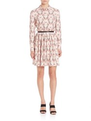 Mother Of Pearl Hurley Shirt Dress Pink Perfume