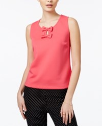 Maison Jules Bow Detail Keyhole Top Only At Macy's Rouge Red