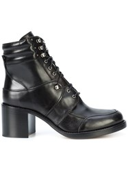 Tabitha Simmons Lace Up Boots Black
