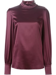 Dolce And Gabbana High Standing Collar Blouse
