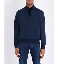 Corneliani Wool Bomber Jacket Navy