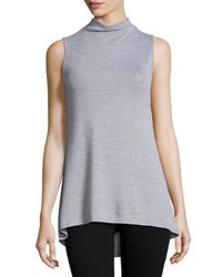 Madison And Berkeley Mock Neck Sleeveless Top Black