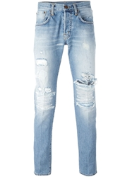 People Distressed Skinny Jeans