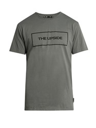 The Upside Logo Print Box Cut Cotton Jersey T Shirt Charcoal