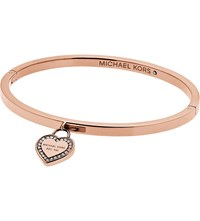 Michael Kors Heritage Rose Gold Plated Stainless Steel Bangle