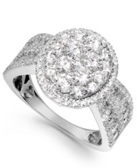 Macy's Diamond Cluster Ring In 14K White Gold 2 Ct. T.W.