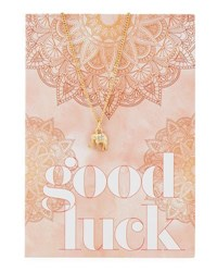 Lydell Nyc Elephant Necklace With Good Luck Card