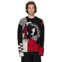 Mcq By Alexander Mcqueen Black Chester Knit Sweater