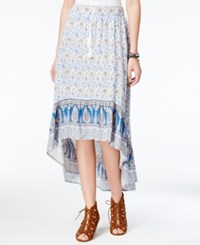 American Rag Printed High Low Skirt Only At Macy's Egret Combo
