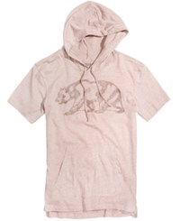 Ring Of Fire Men's Cali Bear Print Hooded T Shirt Only At Macy's Med Pink