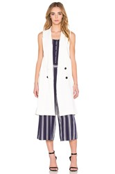 1. State Double Breasted Trench Vest White