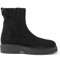 Lanvin Brushed Suede Boots Black